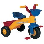 INJUSA Triciclo Trico MAX Amarillo y Azul para Niños de 1 a 3 años con Cesta Delantera y Trasera, Color, 12m+ (353)