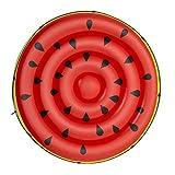 BESTWAY 43140 - Isla Hinchable Diseño Sandía Φ188 cm Vinilo Rojo y Verde con Cuerda de Agarre, Válvulas de Seguridad, Agarraderas y Parche de Reparación Incluido