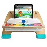 Baby Einstein, Hape Magic Touch Piano, juguete musical de madera, incluye 3 partituras y 6 canciones, a partir de 12 meses
