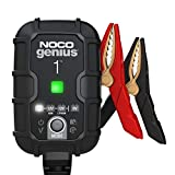NOCO GENIUS1EU, 1A cargador de batería automático inteligente portátil de 6V y 12V, mantenedor de batería y desulfador para moto, scooter, auto, camión y caravana