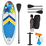 John 52500 Bondi Aquatic - Juego de Tabla de Surf y Remo para niños, Multicolor