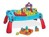 Mega Bloks mesa construye y aprende color azul bloques de construcción de juguete para bebé +1 año (Mattel FGV05)