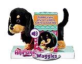Animagic- Waggles, mi Perrito Salchicha Mascota Que ladra y anda, Color Negro - marrón, Talla Única (256655)