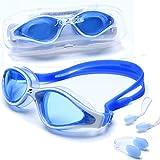 riptide Gafas de natación - Gafas de Buceo con Caja de Almacenamiento, Clip Nasal y Tapones para los oídos   para Mujeres, Hombres y Adolescentes a Partir de 12 años   reflejado o no reflejado