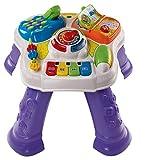 VTech - Mesita parlanchina 2 en 1, Juguete para bebes +9 meses, Mesa de actividades con panel extraíble, 6 zonas interactivas, multicolor, embalaje sostenible, SPB, versión ESP (3480-148067)