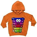 Hariz Baby Hoodie Xilófono Lachend Instrumento Niño Witizg Plus Tarjeta de regalo Coche de juguete naranja. 12-24 meses