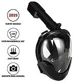 Máscara de Snorkel   Máscara de Buceo   Visión panorámica 180° Real   Pantalla Curva   Sistema antivaho   Soporte para cámara Deportiva   Talla Infantil S-M