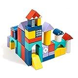ROBUD Bloques Madera para Niños | 60pcs Bloques construccion niños | Juguetes Educativos Apilables para Niños
