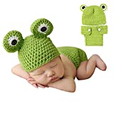 Ropa de fotografía para bebés recién nacidos de 0 a 6 meses rana Talla:estándar