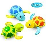 aovowog Niños Juguete de Baño Tortuga Animal Juguete de Beñera para Bebé y Niñas [3 Piezas]