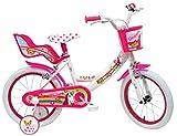 Denver Unicorn Bicicleta, Niños, Bianco-Rosa, 16' (40,64 cm)