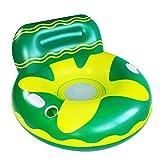 Queta Tumbona Flotante para Piscina, Hamaca Inflable de Agua con Malla Inferior, Portátil Colchoneta de Flotación para Adultos Flotador de Agua para Vacaciones y Ocio de Playa (Verde)