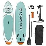 EASYmaxx - MAXXMEE Stand-Up-Board 'I Need Vitamin Sea'   Incluye Bolsa de Transporte, Kit de reparación y Bomba de Aire, con práctica asa de Transporte