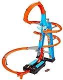 Hot Wheels - Pista y garaje para coches de juguetes, regalo para niños y niñas +5 años (Mattel GWT39), Embalaje sostenible