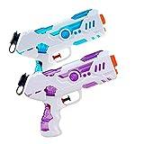 Yojoloin 2 Piezas Pistolas de Agua, Juguetes con Pistolas de Agua para Adultos y Niños, Juguetes Acuáticos para Juegos al Aire Libre, Adecuados para el Jardín de la Piscina en la Playa