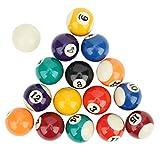 Mini billar de 16 piezas, respetuoso con el medio ambiente, resina de 38 mm, juguetes de billar para niños, billar profesional, adecuado para salas de juegos, bares, deportes, ocio, juegos, accesorios