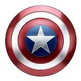 SK MISS - Escudo Capitán América de metal 1:1 versión para adulto