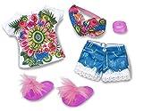 Nancy Luxury Tropic, ropita de Verano para la muñeca Recomendado para niños y niñas a Partir de 3 años (Famosa 700016431)