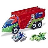 PJ Masks - Rastreador - Juguete Preescolar - Playset con vehículo Que se transforma, 2 Autos, 2 Figuras de acción y más para niños de 3 años en adelante