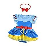 Lito Angels Disfraz de Princesa Blancanieves para Bebé Niñas Body Mono Mamelucos Onesie Vestido de Fiesta Navidad Halloween Cumpleaños con Diadema Talla 3 a 6 Meses