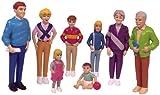 Miniland 27395 - Set de 8 figuras 'Familia europea', 12,5 cm