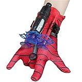 KKPLZZ Spiderman Launcher Glove, Kids Plastic Cosplay Glove Hero Launcher Juego de Juguetes de muñeca Gran Regalo para los fanáticos de Spiderman, Juguetes educativos para niños