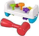 Fisher Price - Mesita de Actividades, Formas y Martillito, Juguete para Bebés + 12 Meses (Mattel GJW05)
