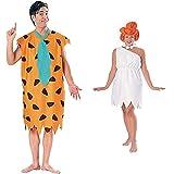 Rubies Disfraz De Pedro Picapiedra Para Hombres, The Flintstones Talla Única + Disfraz De Wilma Picapiedra Para Mujer, Talla Única (15737Std)