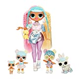 LOL Surprise OMG Familia Bon Bon con más de 45 sorpresas que incluyen muñeca Candylicious OMG, Bon Bon, Bling Bon Bon, Lil Bon Bon, Hop Hop, Accesorios y Juego Plegable, Niñas de 36 meses a 10 años