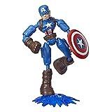 Avengers- Bend and Flex Figura Capitán América 15Cm (Hasbro E78695X0)