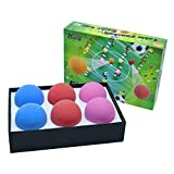 Zkung sports Futbolín de mesa para futbolín, bolas de replacements, minipelotas de fútbol para futbolín, azul, lila, rojo, 36 mm