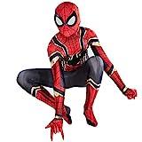 ZXDFG Disfraces Spiderman Niño,Superhéroe Disfraz Spiderman Niño Homecoming Halloween Navidad Traje Spiderman Niño Cosplay Máscara,Máscara y Disfraz Independientes,Spandex/Lycra