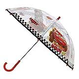 Disney Paraguas Mcqueen Cars | En Rojo y Transparente | Paraguas para Niños