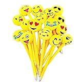 JZK 16 Bolígrafos plumas novedad para niños linda emoji peluche ballpoint pen biro bolígrafo regalo papelería para chicas niños cumpleaños fiesta relleno bolsas favor fiesta