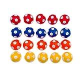 JZK 20 Piezas 36 mm plástico Multicolor Mesa futbolín balones fútbol para niños y Adultos Fiesta cumpleaños favores Bolsas Fiesta Juego de Juguete