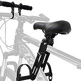 Bomoya Asiento de Bicicleta para niños para Bicicletas de montaña, Asientos Delanteros Desmontables para niños de 2 a 5 años, Compatible con Todos los Adultos MTB (Asiento y Asa)