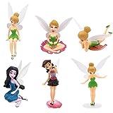 ZSWQ Figuras miniaturas de Hadas 6 Piezas de Hadas de Flores Estatuas en Miniatura,estatuas de paisajes en Miniatura de Bricolaje, utilizadas para la decoración de Pasteles de cumpleaños Familiares