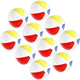 com-four® Pelota de Playa 10x Inflable - Pelota de Playa Repelente al Agua - Pelota de Playa para Playa, Piscina y Lago para bañarse - Juguetes de baño - Ø 32 cm (10 Piezas)