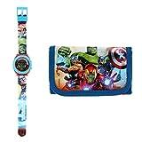 Kids Licensing  Reloj Digital + Billetera para Niños   Reloj Avengers   Billetera Avengers   Set Reloj y Billetera Infantil   Reloj de Pulsera Infantil   Caja Decorada para Regalo  Licencia Oficial