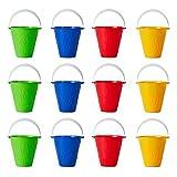 BRAMBLE 12 Cubos de Colores Brillantes - Balde para Niños   Juguetes para Arena y Playa