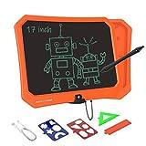 VNVDFLM Ewriter Pizarra De Dibujo Electrónica Portátil De 17 Pulgadas, Utilizada para Regalos De Cumpleaños, Adecuada para Niños y Adultos, con Lápiz Táctil Inteligente (Naranja)
