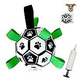 MOMSIV Juguetes para perros, juguetes de fútbol para mascotas, juguete interactivo para perros con pestañas de agarre, bolas de perro duraderas para perros de raza pequeña y mediana juguete de agua