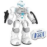 kuman Robot de Control Remoto para Niños, Robot Inteligente RC Robot Programable ,Disparos de Juguete Objetivos, Caminar ,Cantar ,Bailar para Regalo de Niños