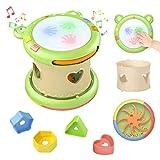Tumama Juguetes Musicales para Bebes,Bebes Instrumentos Musicales Tambores Electronica para niños,niños Juguetes sensoriales Cajas de música Juguetes para Bebés