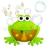 WolinTek Juguete de Baño para Bebé, Máquina de Burbujas para Bañera, Rana de Juguete con 12 Melodías Musicales,Burbuja de Baño Juguetes para Niños