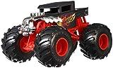 Hot Wheels Monster Trucks Vehículo Bone Shaker 1:24, coches de juguetes niños +3 años (Mattel GCX15)