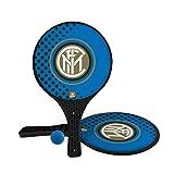 Mondo Toys – 2 Raquetas de plástico – Pelota de Goma – Juego de Playa para niños y Adultos – Producto Oficial del F.C. Inter Milano – Unisex – 15024