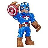 Playskool Heroes Mega Mighties Marvel Super Hero Adventures Capitán América, Figura de acción Coleccionable de 25,4 cm, Juguetes para niños a Partir de 3 años