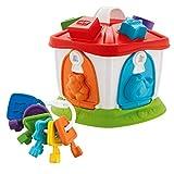 Chicco Casita de los Animales 2en1- Juego Puzzles encajables y contrucción para bebés de Animales, Formas y Llaves de Colores