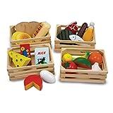 Juguetes de alimentos de madera